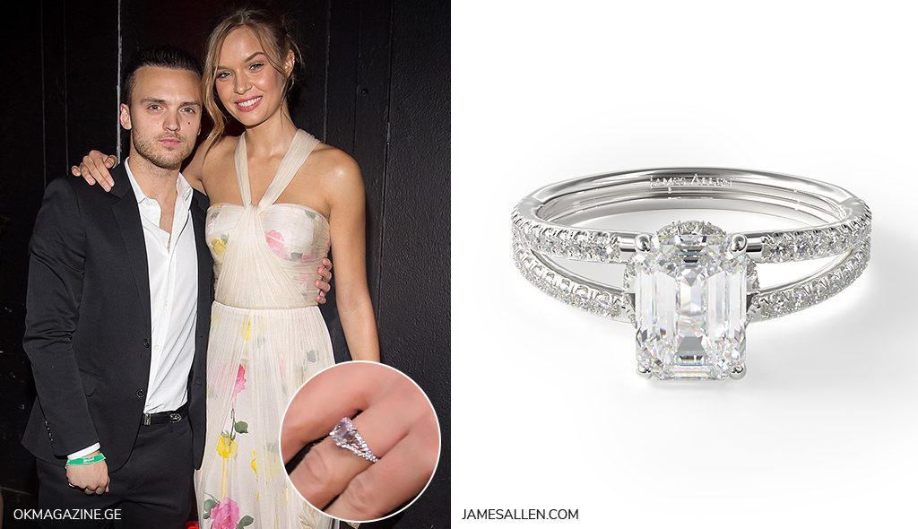 josephine skriver split band engagement ring inspiration