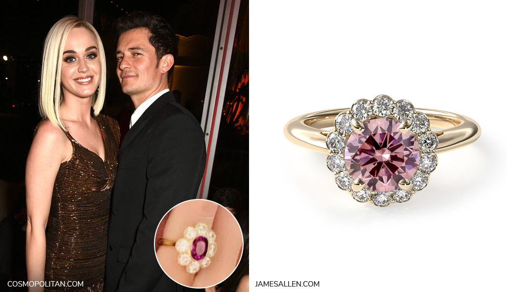 katy perry floral engagement ring inspiration