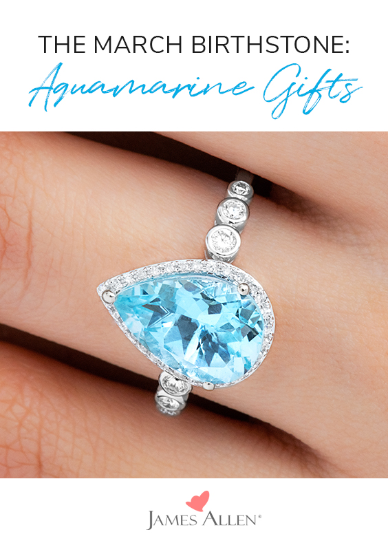 aquamarine gifts march birthstone pin pinterest