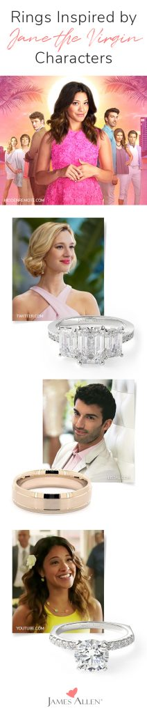 jane the virgin inspired engagement rings pin pinterest