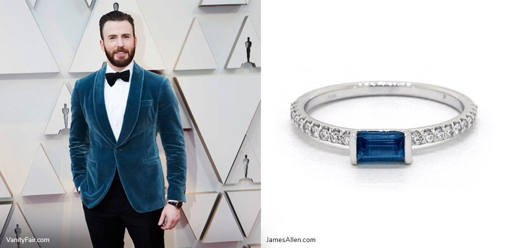 oscars inspired jewelry chris evans topaz ring