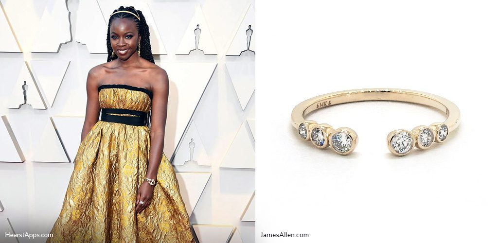 oscars inspired jewelry danai gurira stackable diamond ring