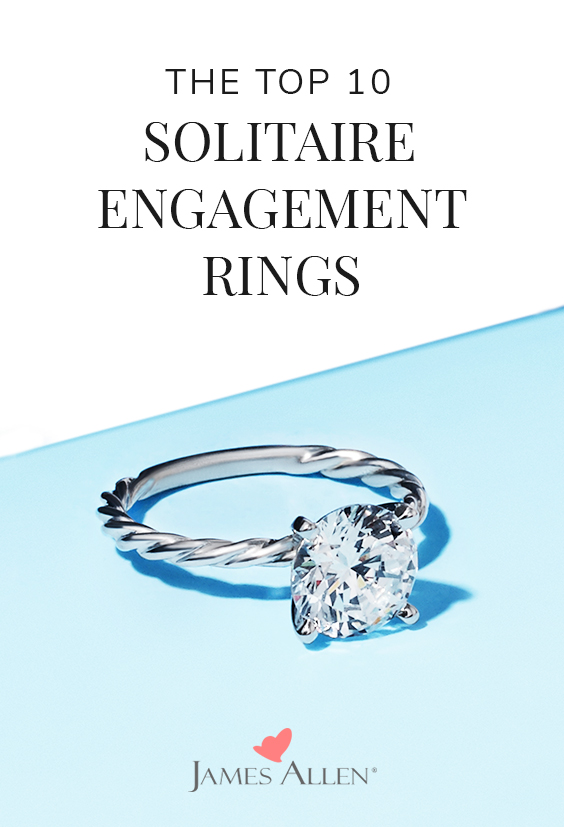 top 10 solitaire engagement rings pin pinterest
