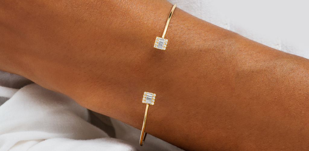 14K Yellow Gold Open Luxe Diamond Bracelet