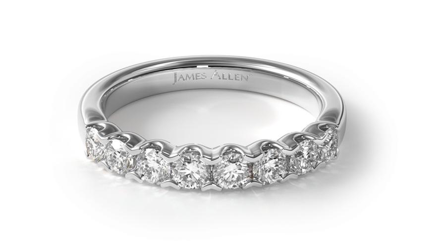 14K White Gold Fishtail Diamond Ring