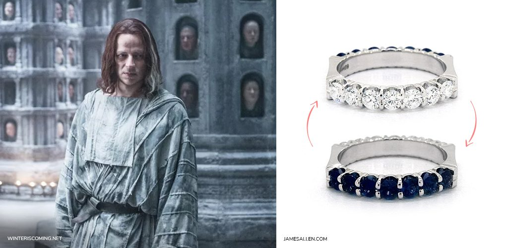 game of thrones jewelry faceless man reversible diamond sapphire ring