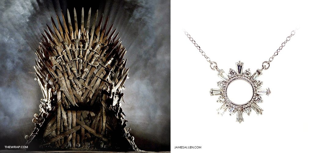 game of thrones jewelry iron throne diamond necklace
