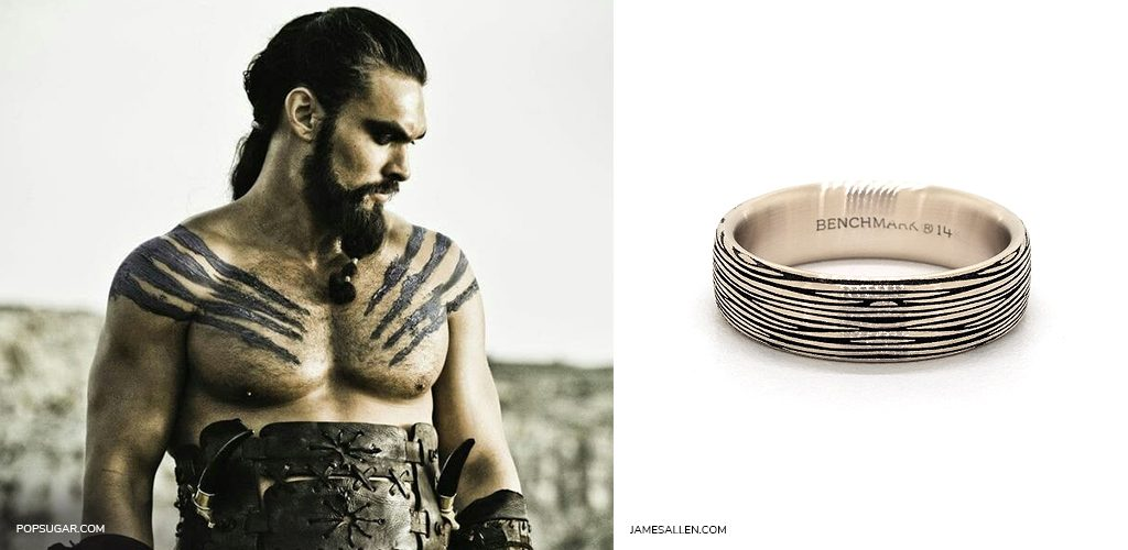 game of thrones jewelry khal drogo unique men's wedding ring