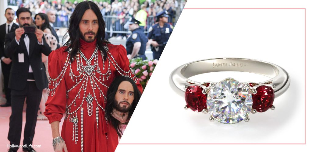 Jared Leto Met Gala looks ruby diamond engagement ring