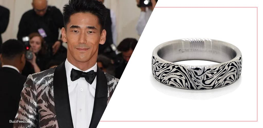 Naoki Kobayashi Met Gala looks carved men's wedding ring