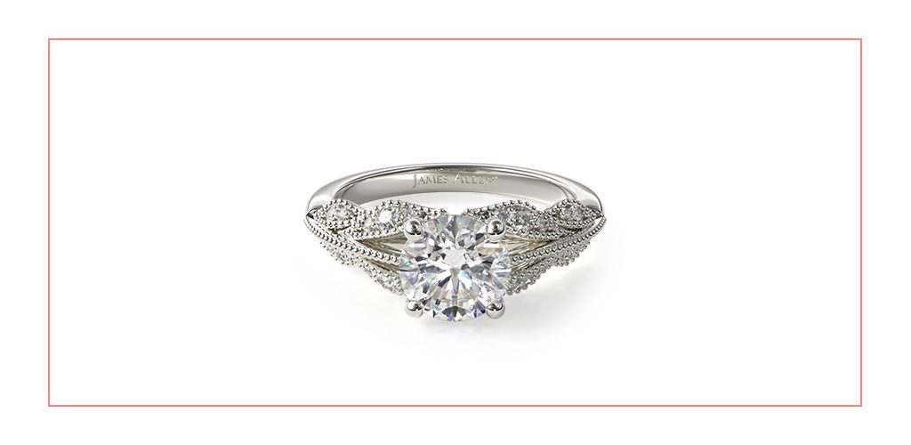 floral bouquet vintage style engagement ring reviews