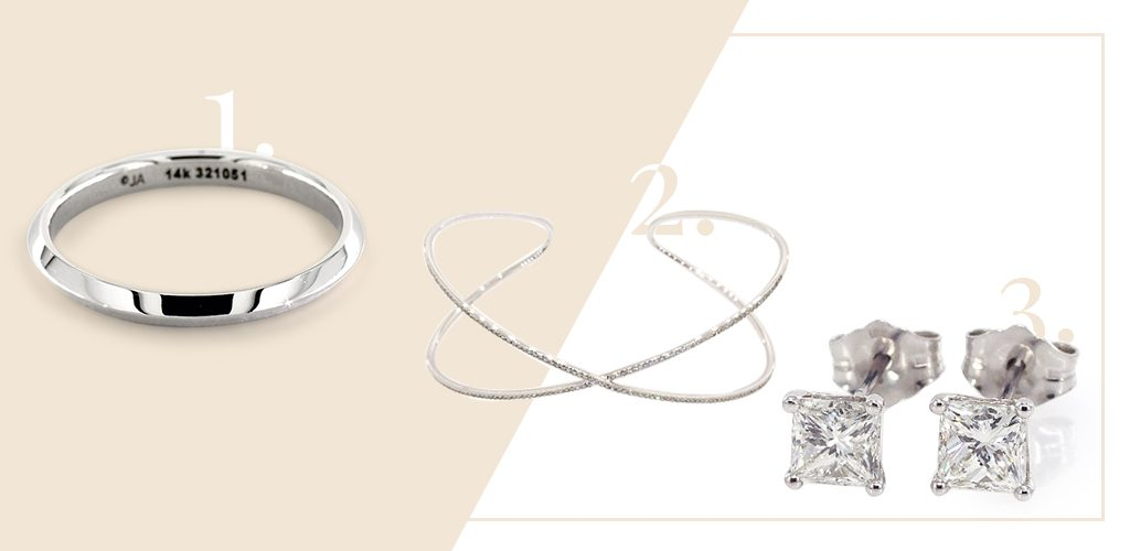modern simplicity bridal jewelry sets earrings bracelet ring