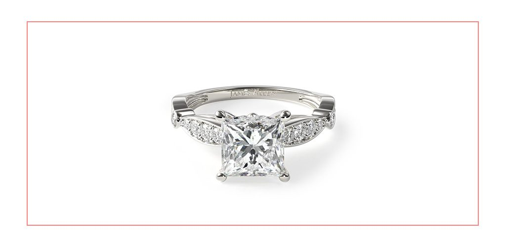 pave embossed vintage style engagement ring reviews