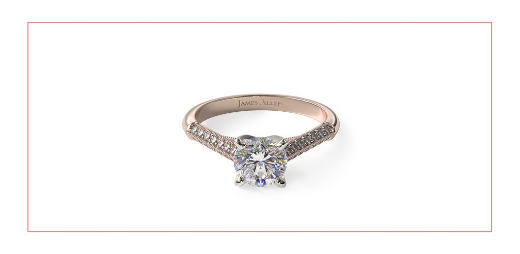 pave knife edge vintage style engagement ring reviews