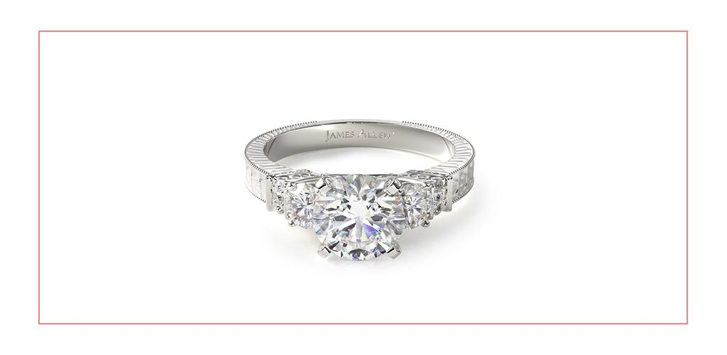 royal engraved vintage style engagement ring reviews