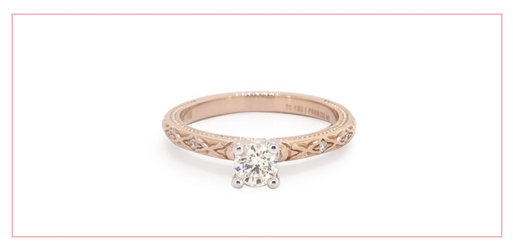 14K Rose Gold Blossom Engagement Ring