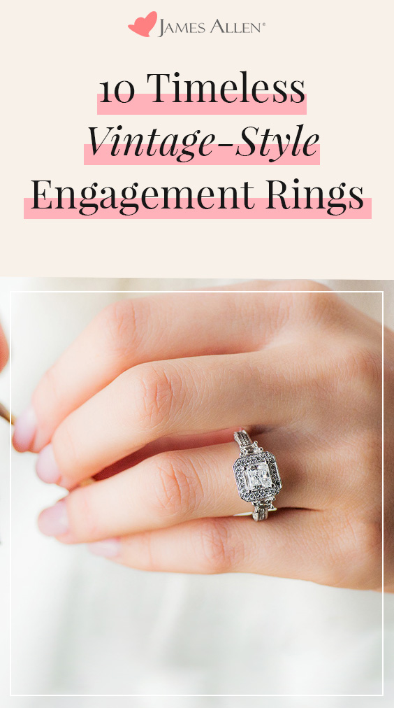 vintage style engagement ring reviews pin pinterest