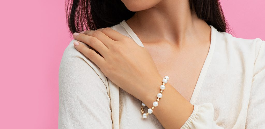 june pearl birthstone jewelry gifts gold bracelet