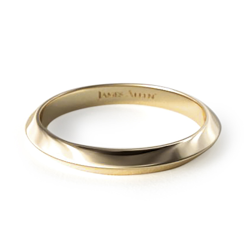 Yellow Gold Knife Edge Ring