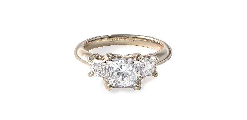Yellow Gold Three-Stone Engagement Ring