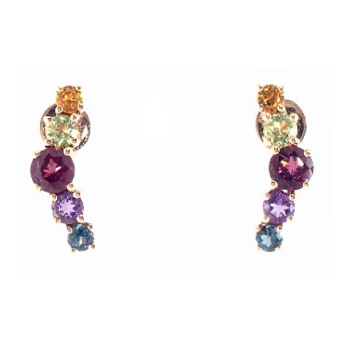 Multi-Stone Climber Earrings