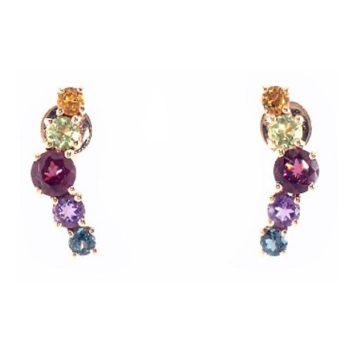 Multi-Stone Climber Earrings