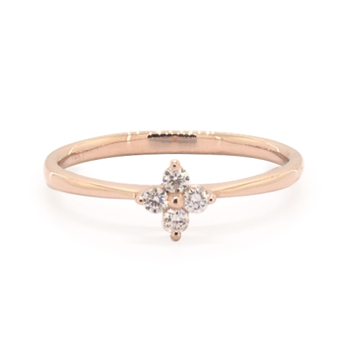 Single Clover Diamond Ring