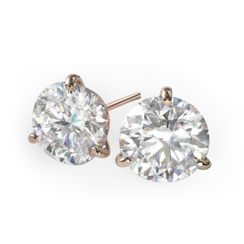 Three-Prong Martini Studs