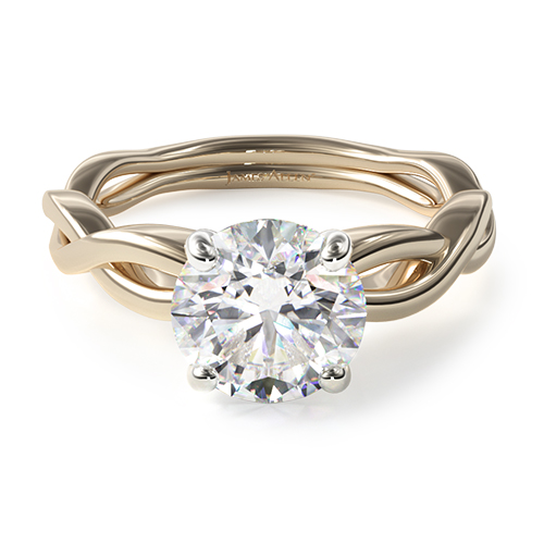 Infinity Solitaire Engagement Ring