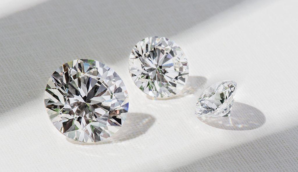3 cut diamonds
