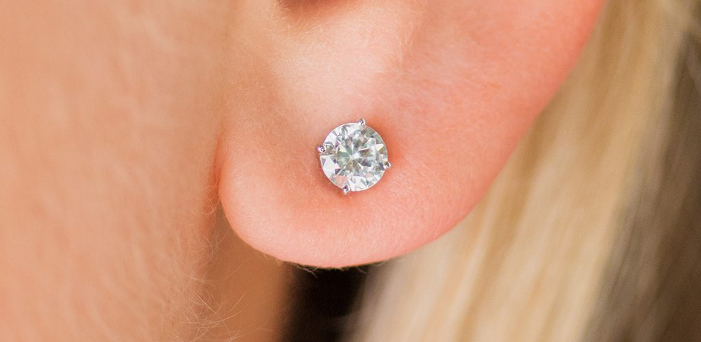 jewelry gift diamond stud earrings