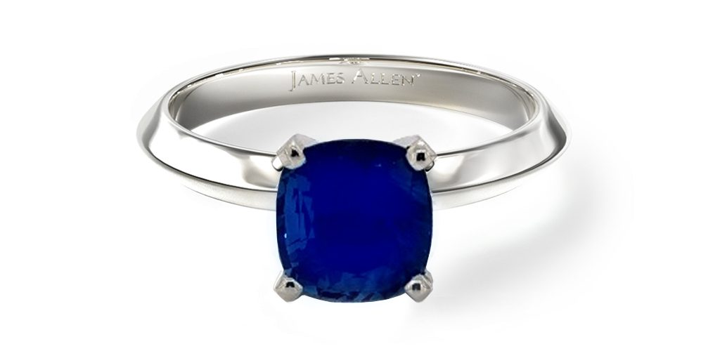 2020 engagement ring trends blue sapphire ring