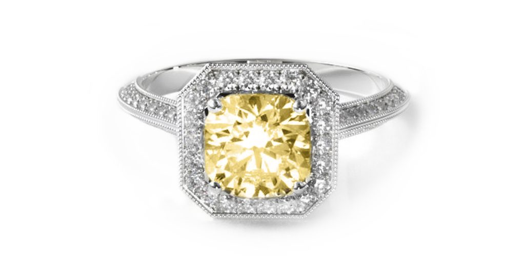 2020 engagement ring trends cushion cut halo engagement ring