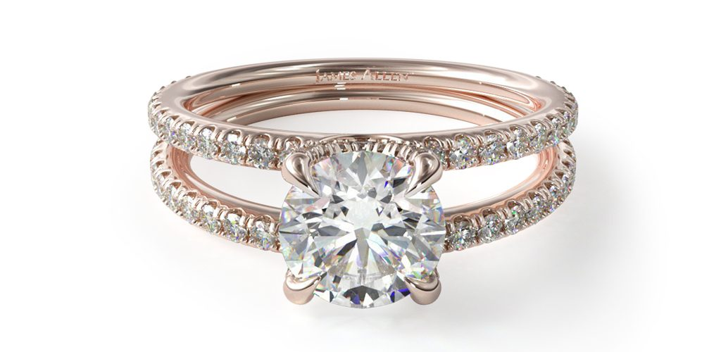 2020 engagement ring trends rose gold engagement ring