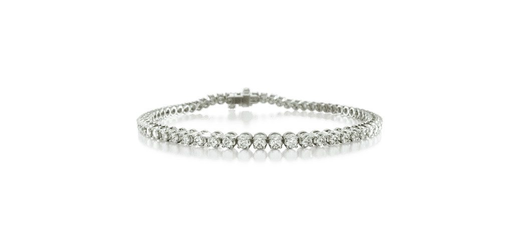 White Gold Four Prong Tennis Bracelet