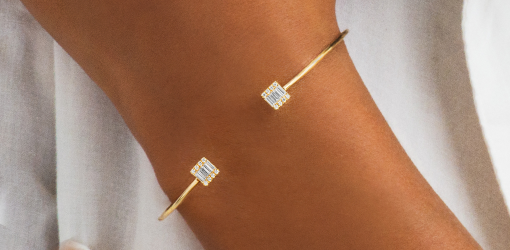 Yellow Gold Open Luxe Bracelet - Minimalist Jewelry