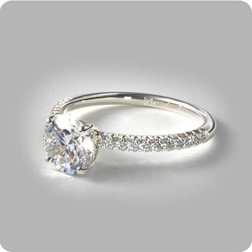 Using Pinterest to Find Your Partner's Dream Ring: Petite Pavé Engagement Ring