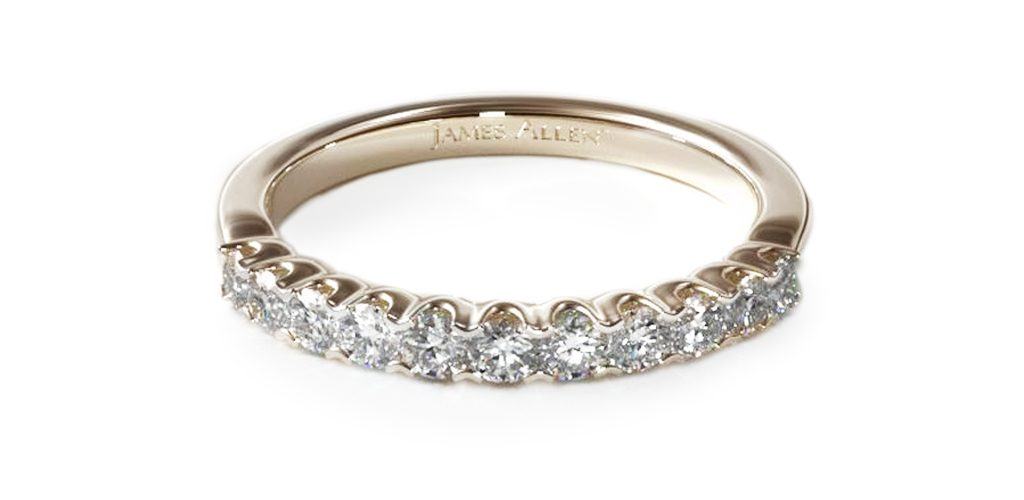 Yellow Gold Fishtail Diamond Ring