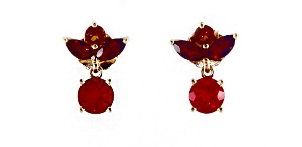 The October birthstone: Fire Opal Earrings With Citrines and Garnets