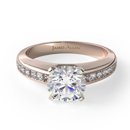 Fall proposal ideas: rose gold channel-set engagement ring