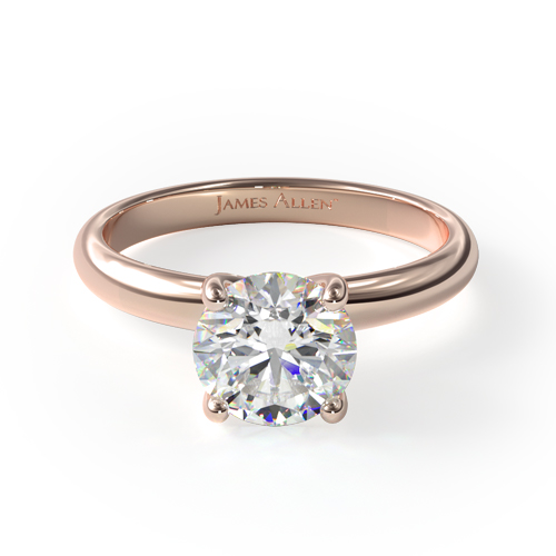 Fall proposal ideas: rose gold solitaire engagement ring