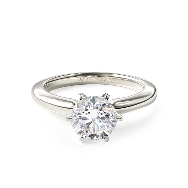 2020 celebrity engagements - Six Prong Solitaire Engagement Ring