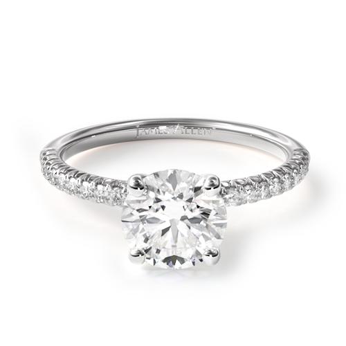 Petite Pavé Engagement Ring