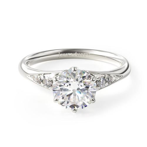 Tapered Pavé Engagement Ring