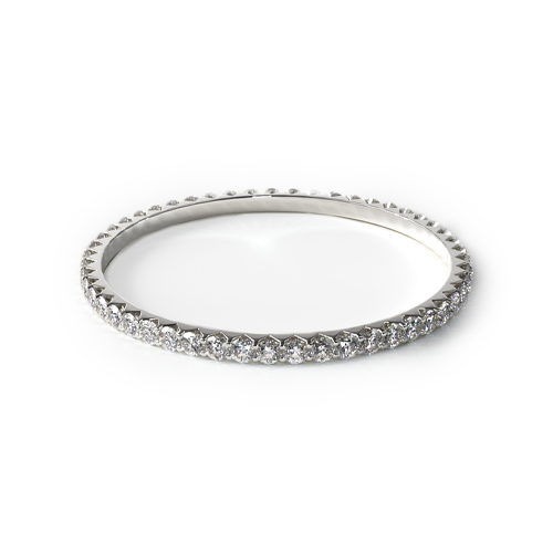 How to wear a wedding ring - prong-set wedding ring