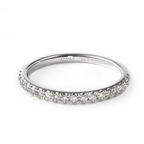 most popular wedding rings: white gold pave wedding ring