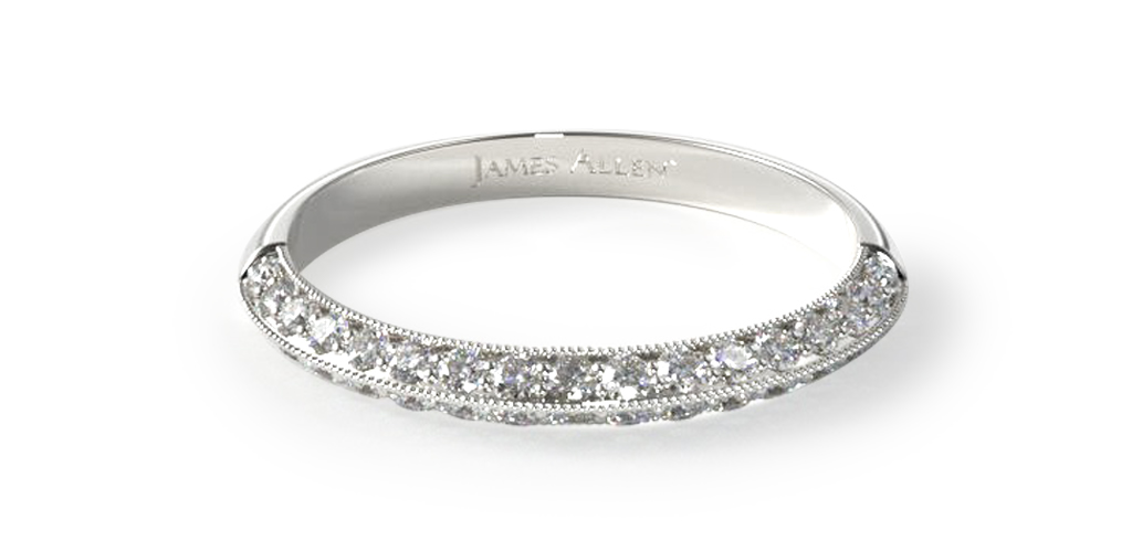 How to wear a wedding ring - pave lotus wedding ring
