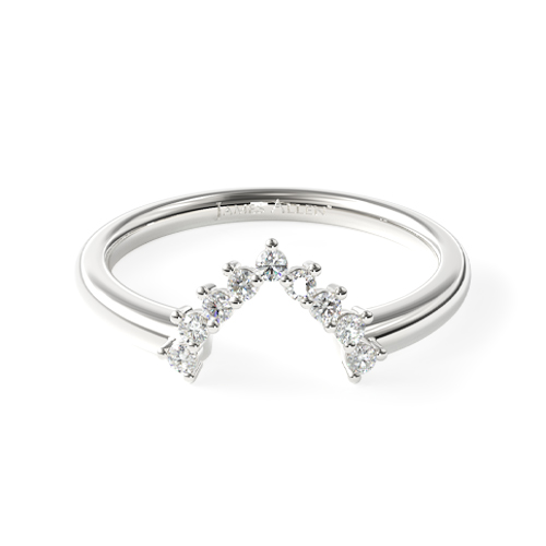 14K White Gold Diamond Tiara Matching Wedding Ring