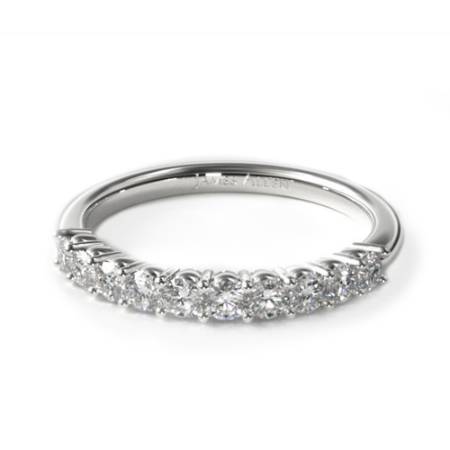 most popular wedding rings: white gold prong-set wedding ring
