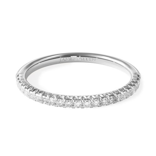 most popular wedding rings: platinum pave wedding ring